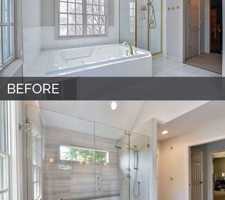 Terrific Bathroom Before And After Of Master Remodel Naperville Sebring Services