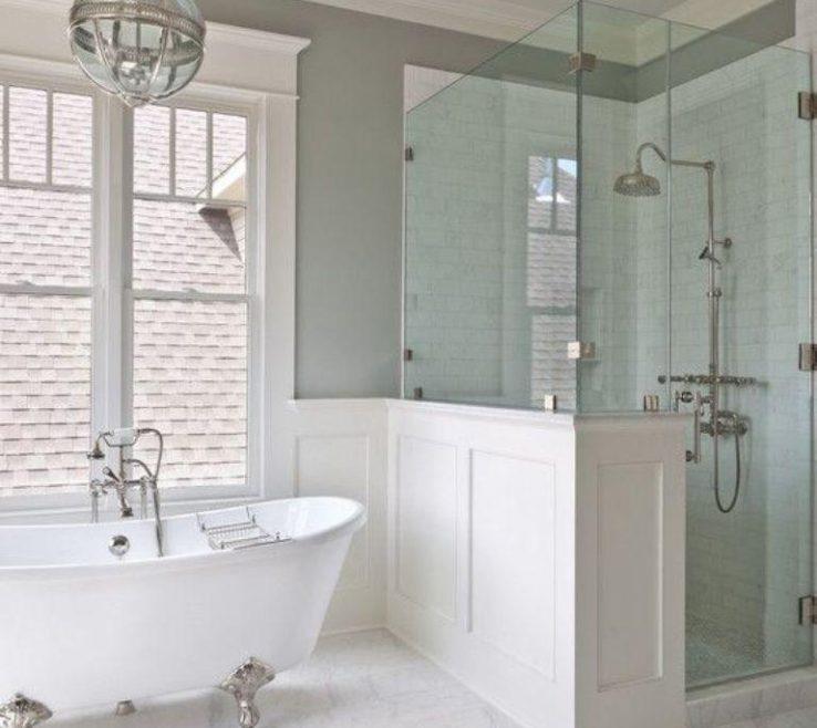 Terrific Bathroom Tub Ideas Of Airy With White Silver Clawfoot Bath