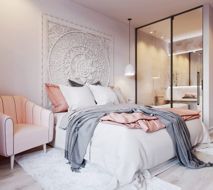Terrific Gray Bedroom Decor Of Cool Pink And Ideas Tips