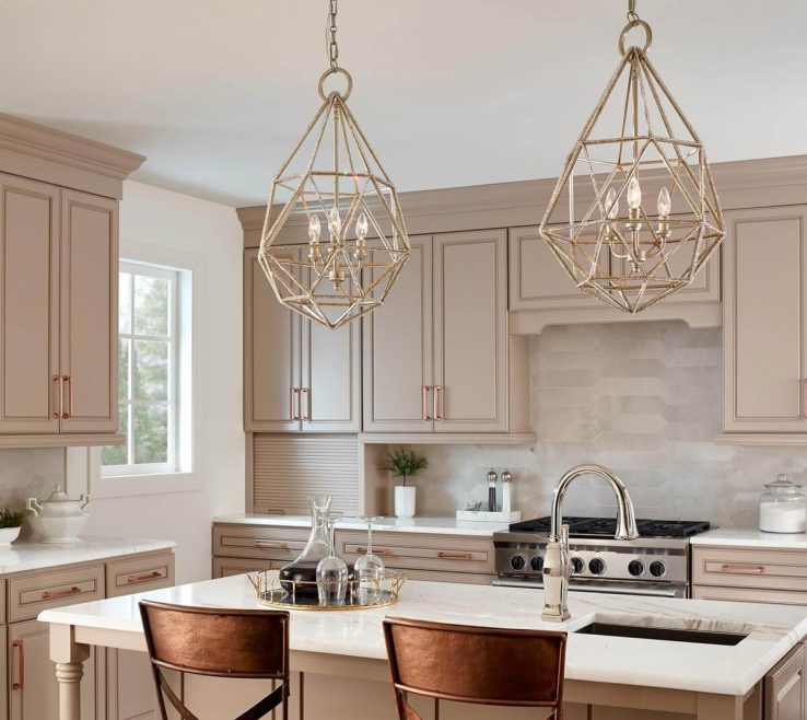 Terrific Kitchen Pendant Lights Images Of Geometric Designs