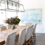 Terrific Lighting Over Dining Room Table Of Beachy Beadboard Ceiling Linear Light