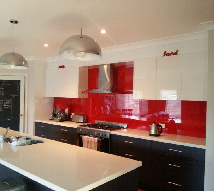 Terrific Red Kitchens Of Kitchen Splashback, Dark Cupboards Under, Light Cupboards