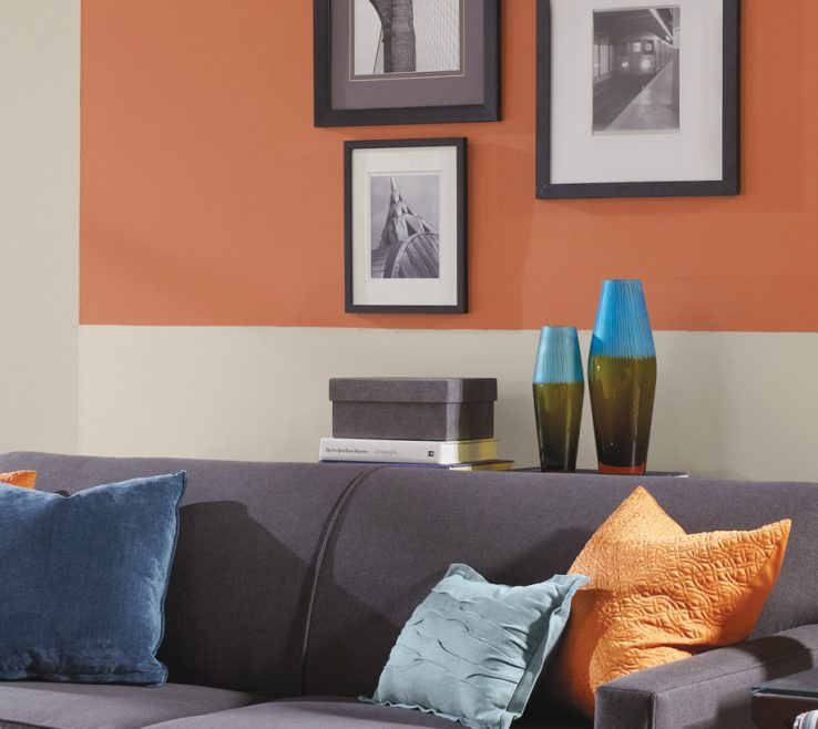 Unique Grey Paint Ideas For Living Room Of Oranges