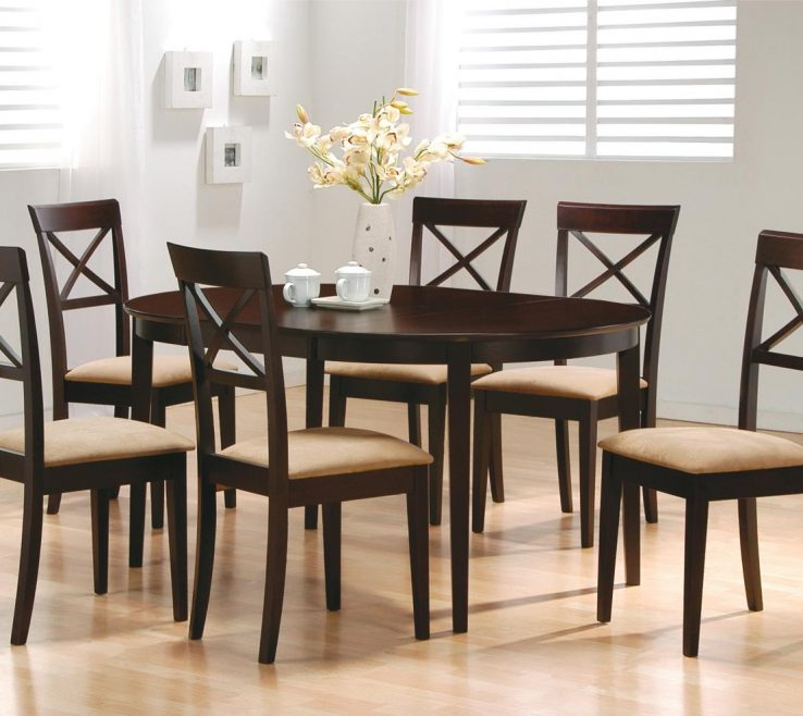 Unique Mix And Match Dining Chairs Of Coaster & 7 Piece Set Item