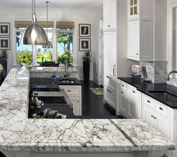 Unique White Kitchen Black S Of Awesome And Granite