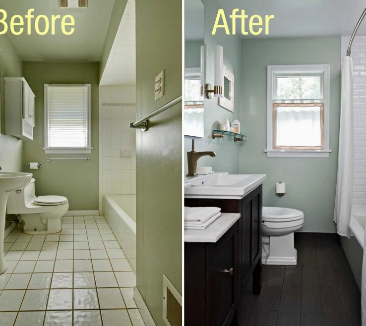 Vanity Bathroom Makeovers Before And After Of Small Bathrooms Makeover Inspirational Small In Small