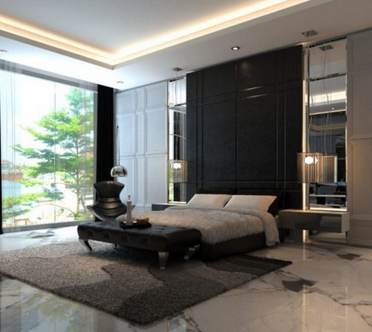 Vanity Contemporary Master Bedroom Of Hd Decorate With Black
