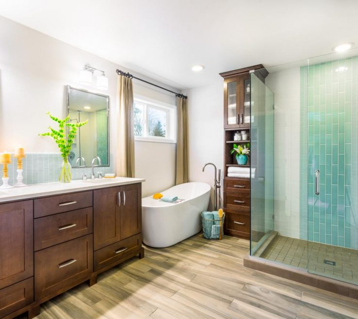 Vanity Master Bathroom Showers Of Maximum Home Value Projects: Tub And Shower