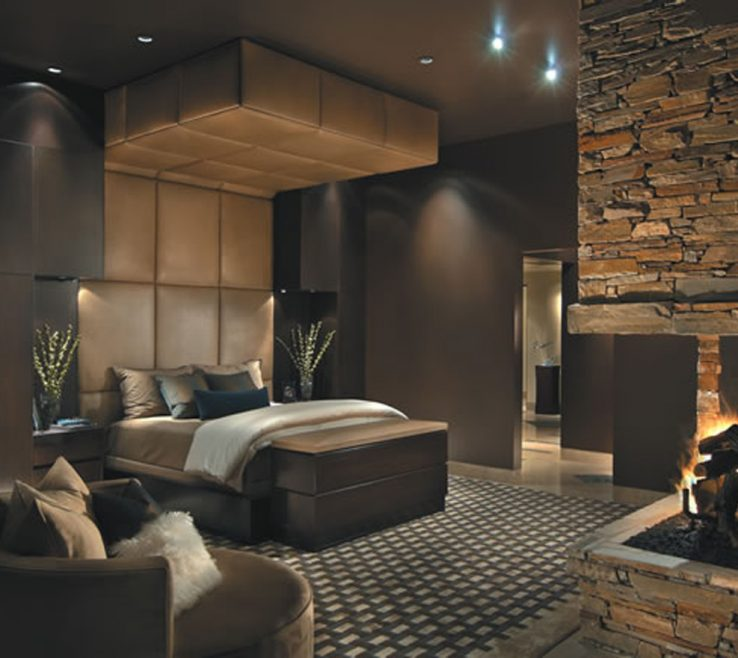 Vanity Master Bedroom With Fireplace Of Cool