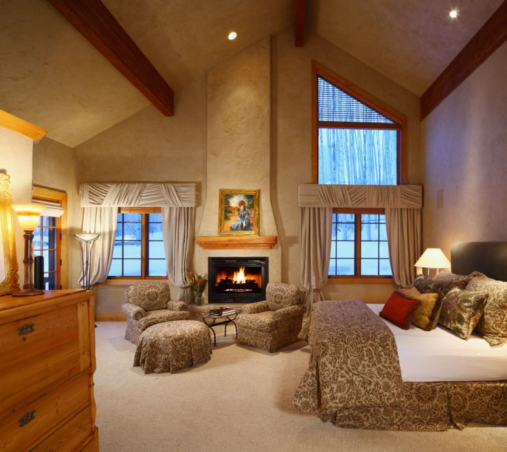 Vanity Master Bedroom With Fireplace Of Majestic Fireplaces