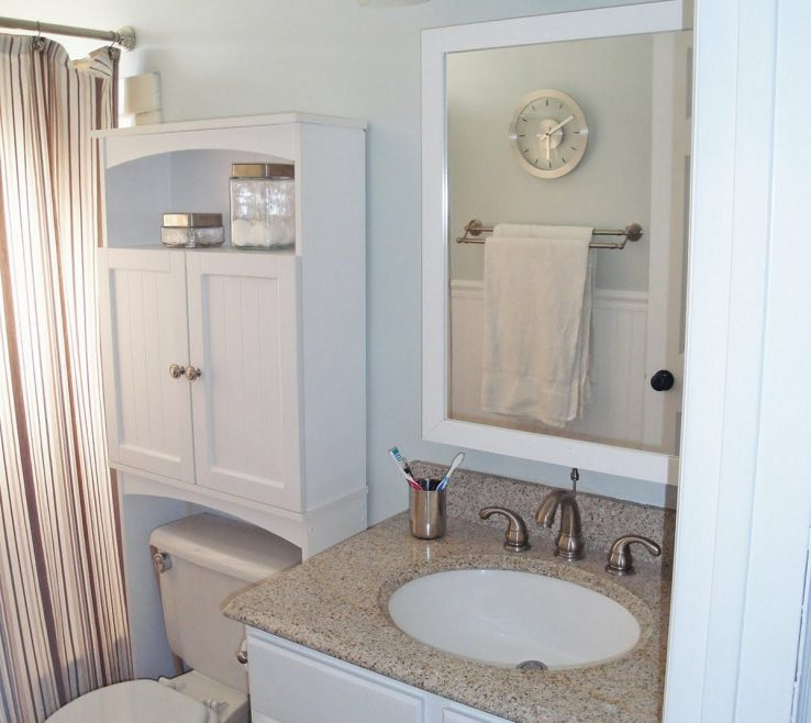 Very Small Bathroom Storage Ideas Of Enchanting White Wooden Two Doors Single Shelves