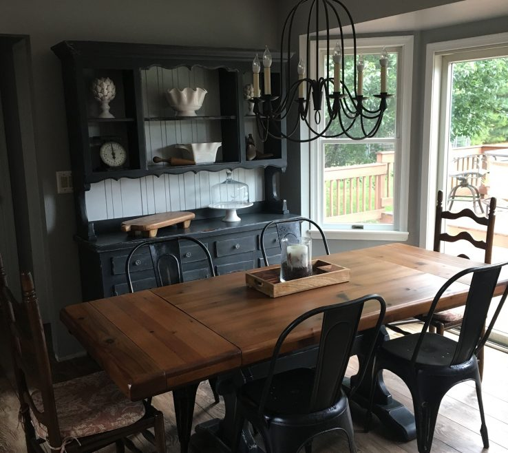 What To Put In The Middle Of Your Kitchen Table Of Refinishing At Unique