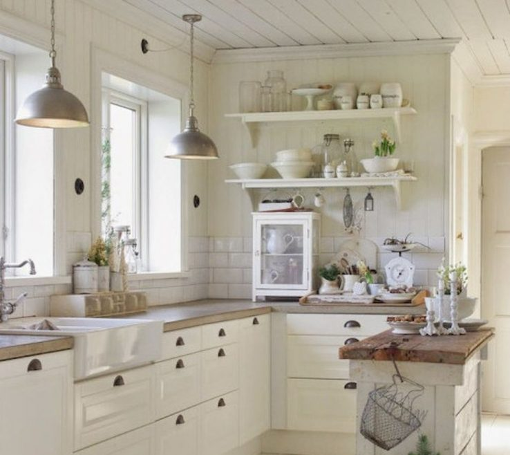 White Rustic Kitchen Of 90 S E Style Ideas (75)