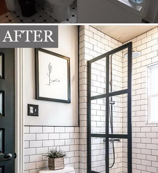 Wonderful Bathroom Makeovers Before And After Of Echo The Dark Muntins With Blackened Bronze