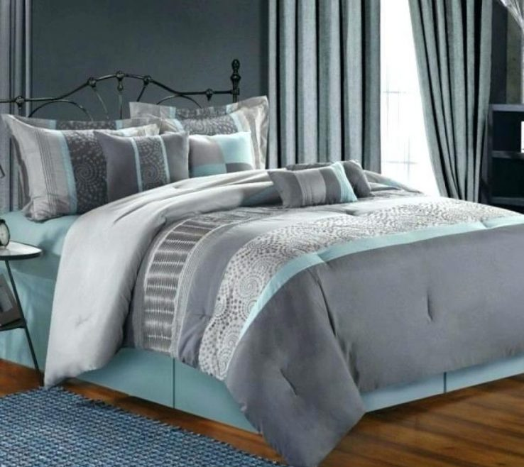 Wonderful Blue Gray Bedroom Of And Walls Grey Throughout Light Decor 7