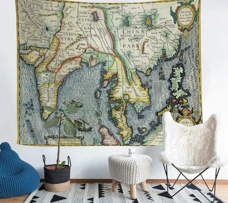 Wonderful Living Room Tapestry Of Bedroom Wall Decoration Southeast Asian Plate Drawings