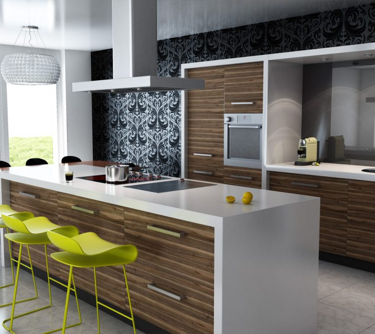 Wonderful Modern Style Kitchen Of Chairs