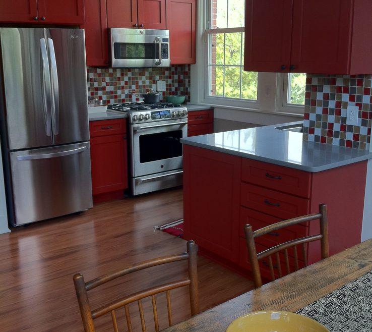 Wonderful Red Kitchens Of Kitchen