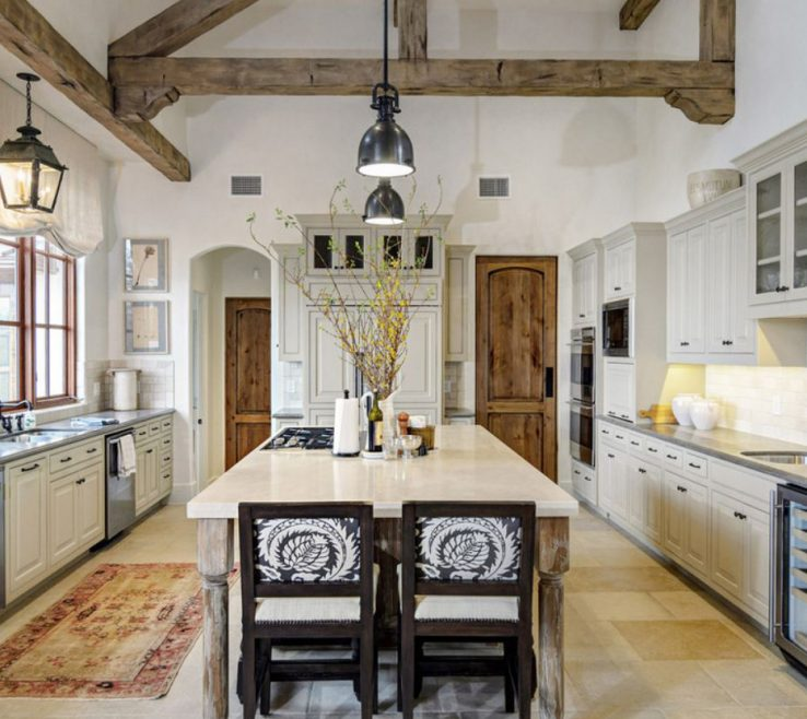 Wonderful White Rustic Kitchen Of Design Visions Of Austin