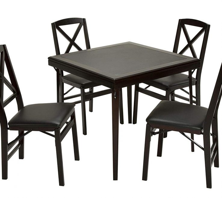 Adorable Designer Folding Tables Of Conceptreview Cosco Espresso Wood Table Square