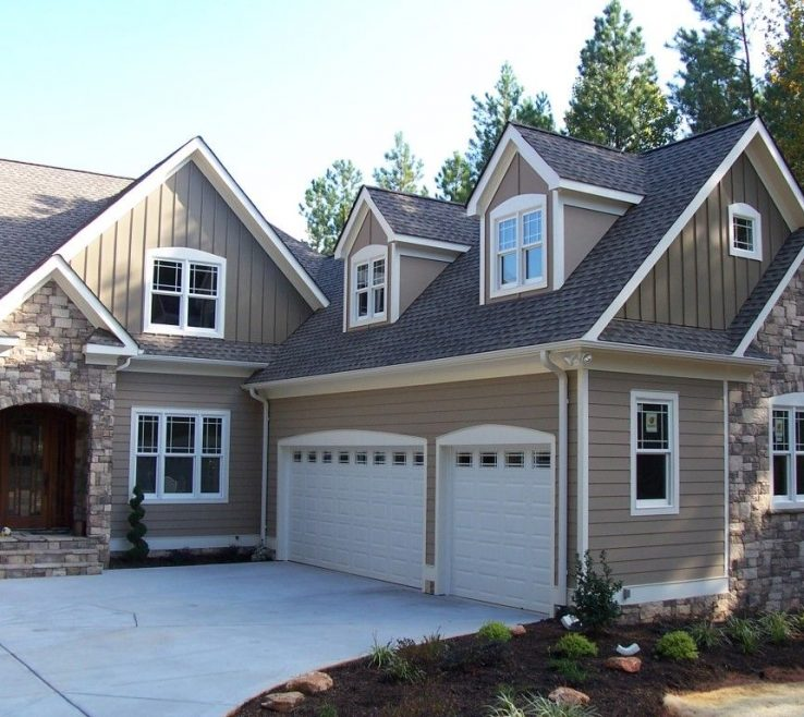 Adorable Exterior E Paint Color Ideas Of Awesome With White Garage Door And Grey