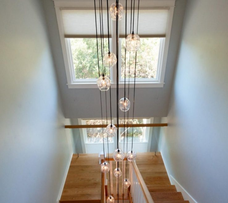 Adorable Modern Staircase Lighting Of Creative Home Design, Comely Decorations Stairwell Fixtures