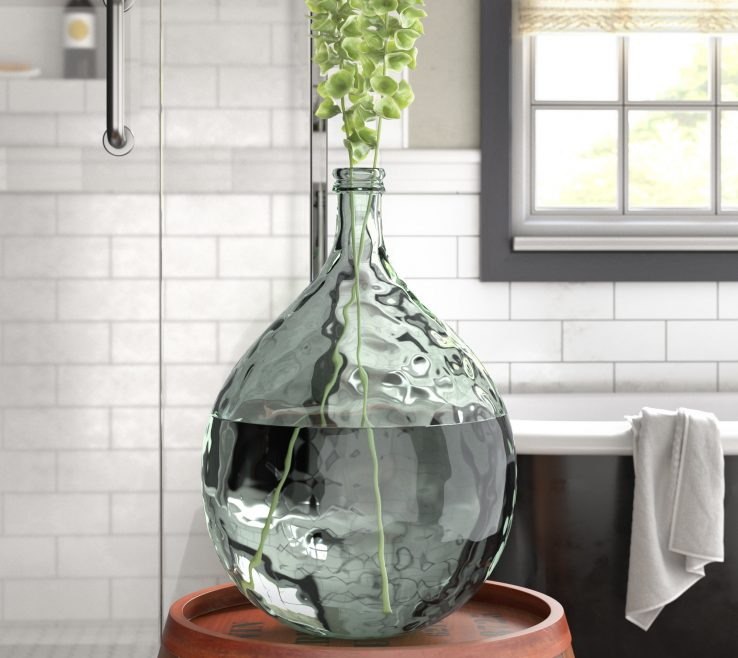 Alluring Clear Glass Floor Tile Of Laurel Foundry Modern E Decorative Vase Andamp