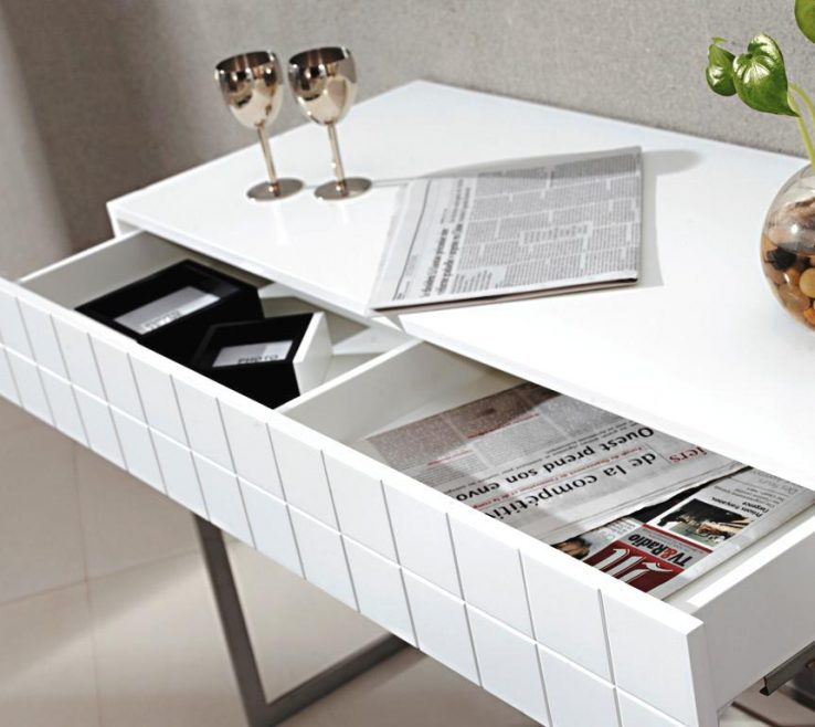 Alluring Contemporary Console Table With Drawers
