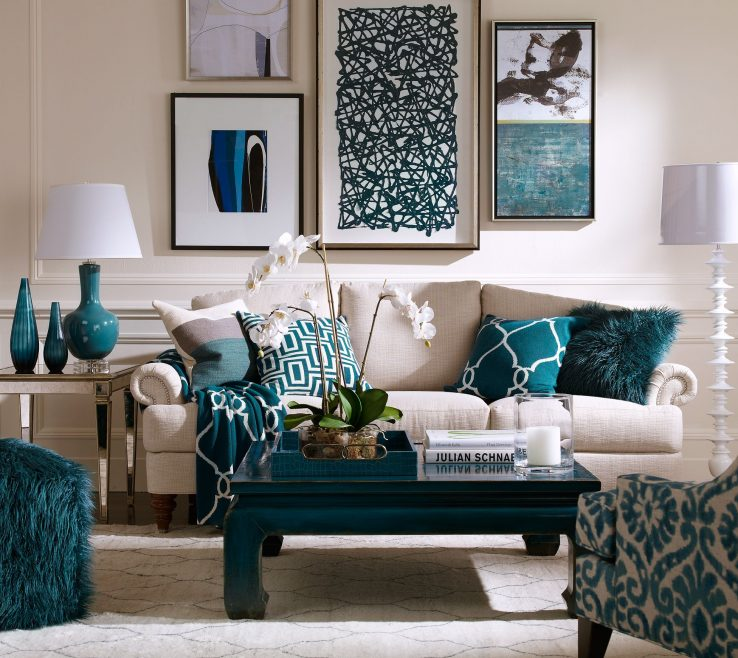 Alluring Green And Turquoise Decor Of Dining Room Ideas, Rooms, Living Room Accessories,