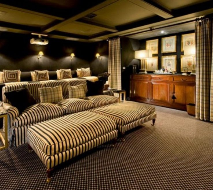 Alluring Ideas For Theater Room Of Accessories: Archaicfair Home Seating Theatre Ideas: