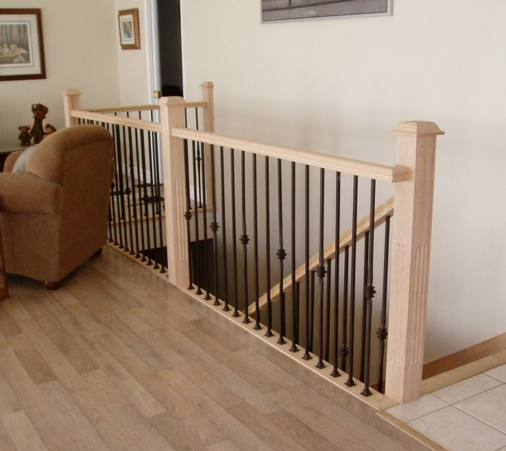 Alluring Indoor Stair Railing Pictures And Ideas Of Wooden Outdoor : Home Design