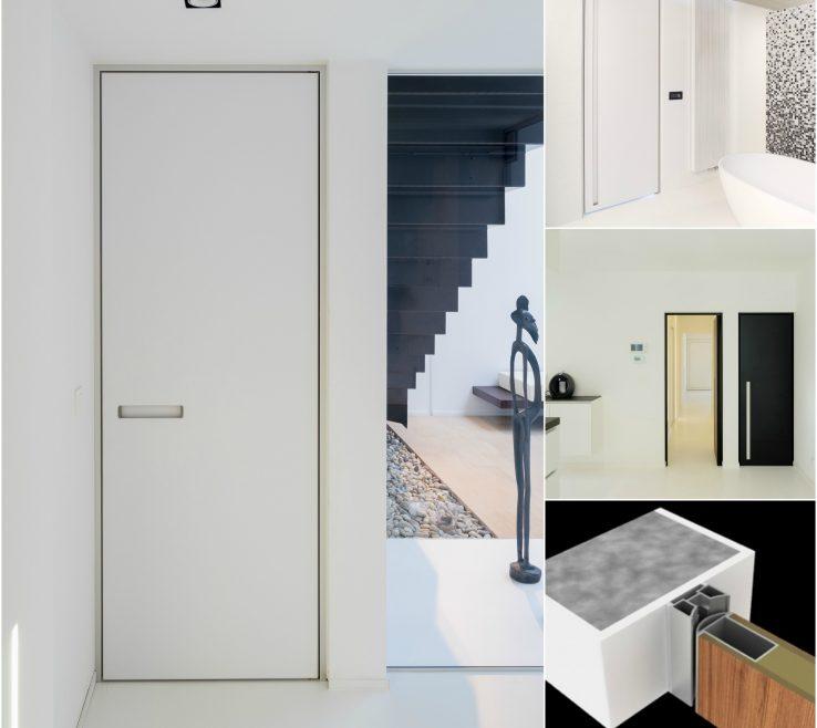 Alluring Interior Doors Modern Design Of With A Minimalist Block Door Frame