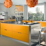 Alluring Orange Kitchen S Of Design Your Ing Yellow And Silver