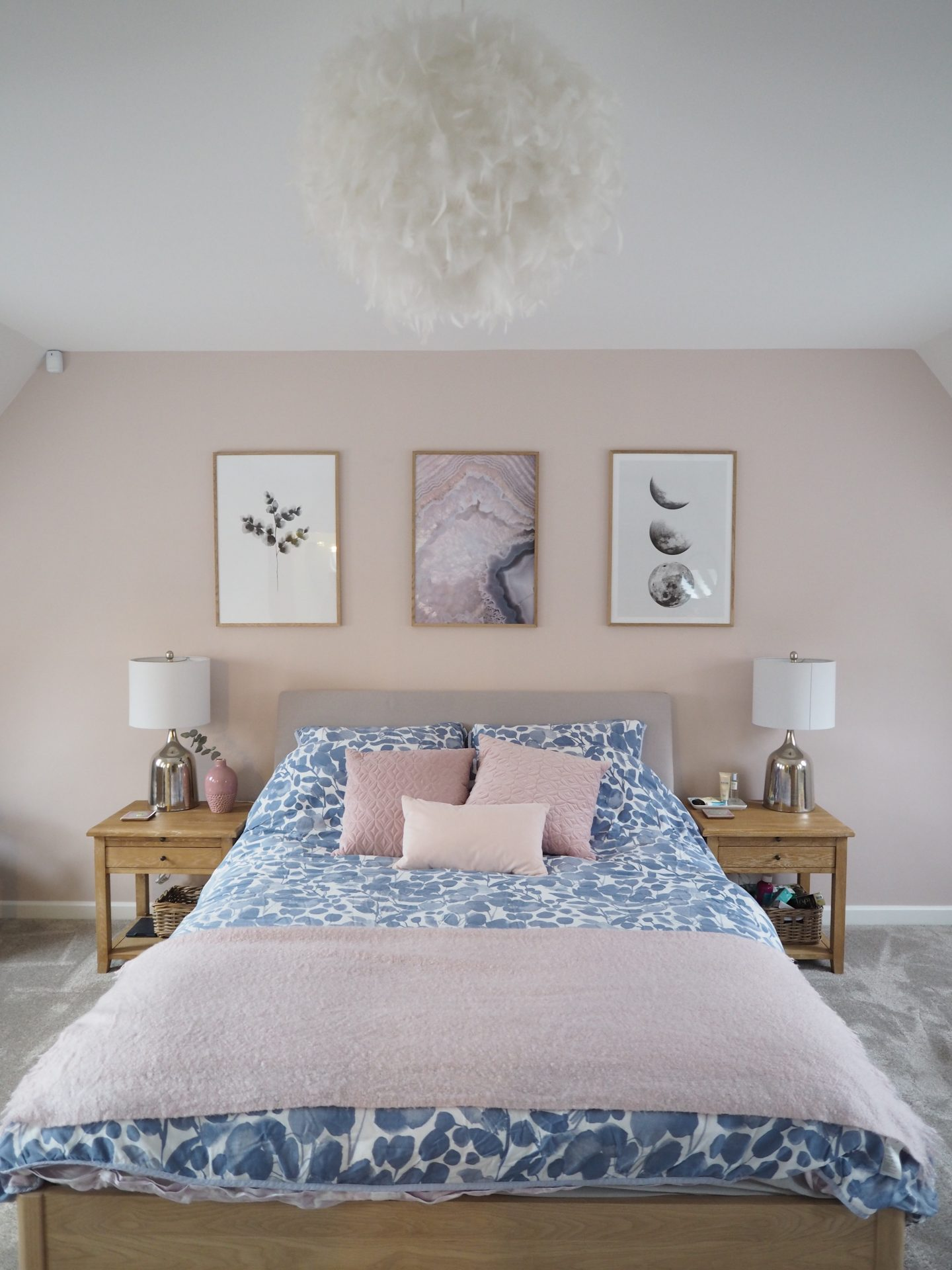Pink Gray Bedroom - ACNN DECOR