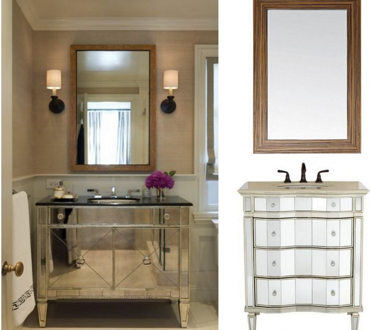 Alluring Unique Bathroom Vanity Mirrors Of Cool Mirrored For Home Furniture And Mirror