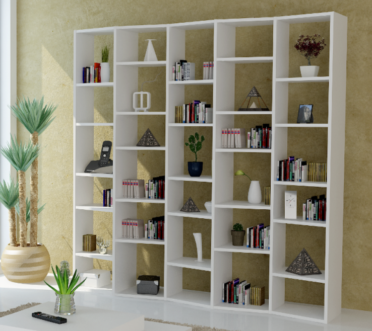 Alluring Unique Shelving Units Of Admirable Huge White Unit Design With Rectangular