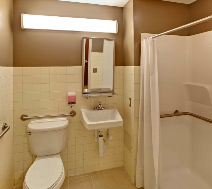 Amazing Handicap Bathroom Design Of Dimensions | Wheelchair Accessible Floor Plans |