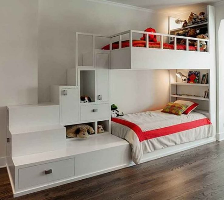 Amazing Modern Kids Storage Of Exceptional Bedroom Bining White Bunk Bed