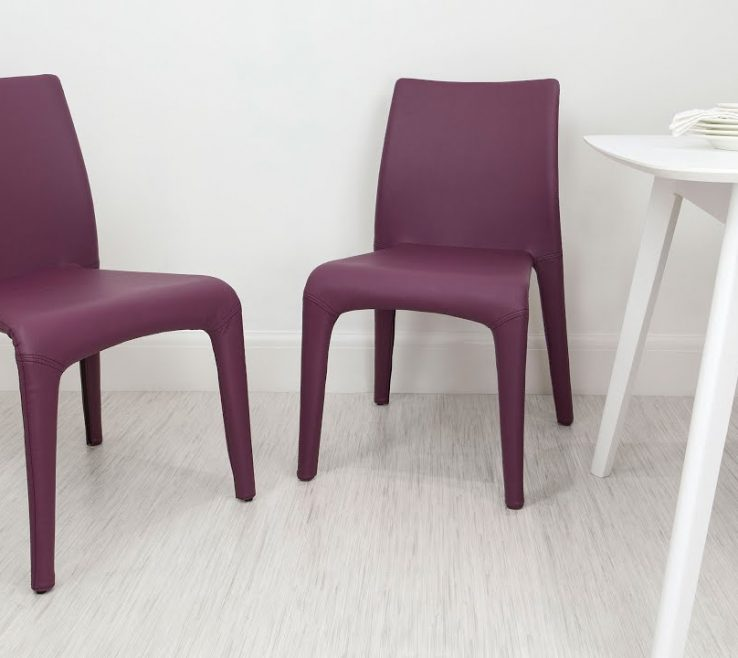 Amazing Stylish Dining Chairs Of Colourful Faux Leather