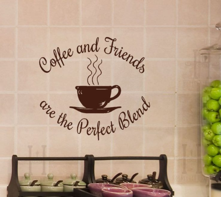 Artistic Coffee Themed Wall Decor Of Simple Art
