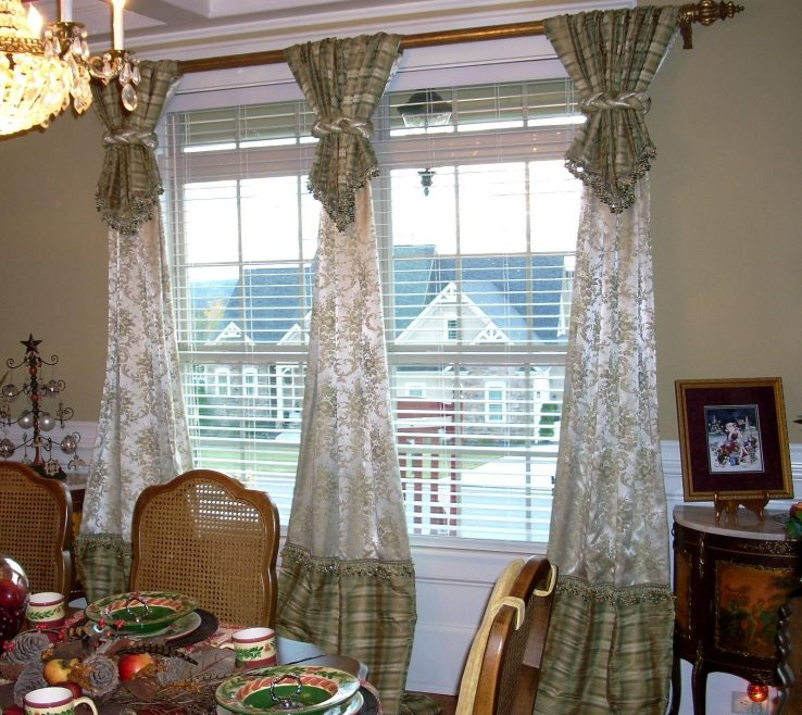 Artistic Dining Room Window Treatment Ideas Of Living