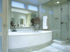 Ing Glass Floor Tile Bathroom Of Recycled Kitchen Backsplash Bath Photos Scary Large