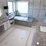 Artistic Glass Floor Tile Bathroom Of Clear Shower Room In Ing White