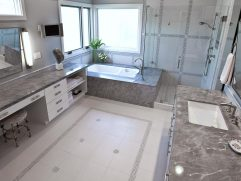 Glass Floor Tile Bathroom