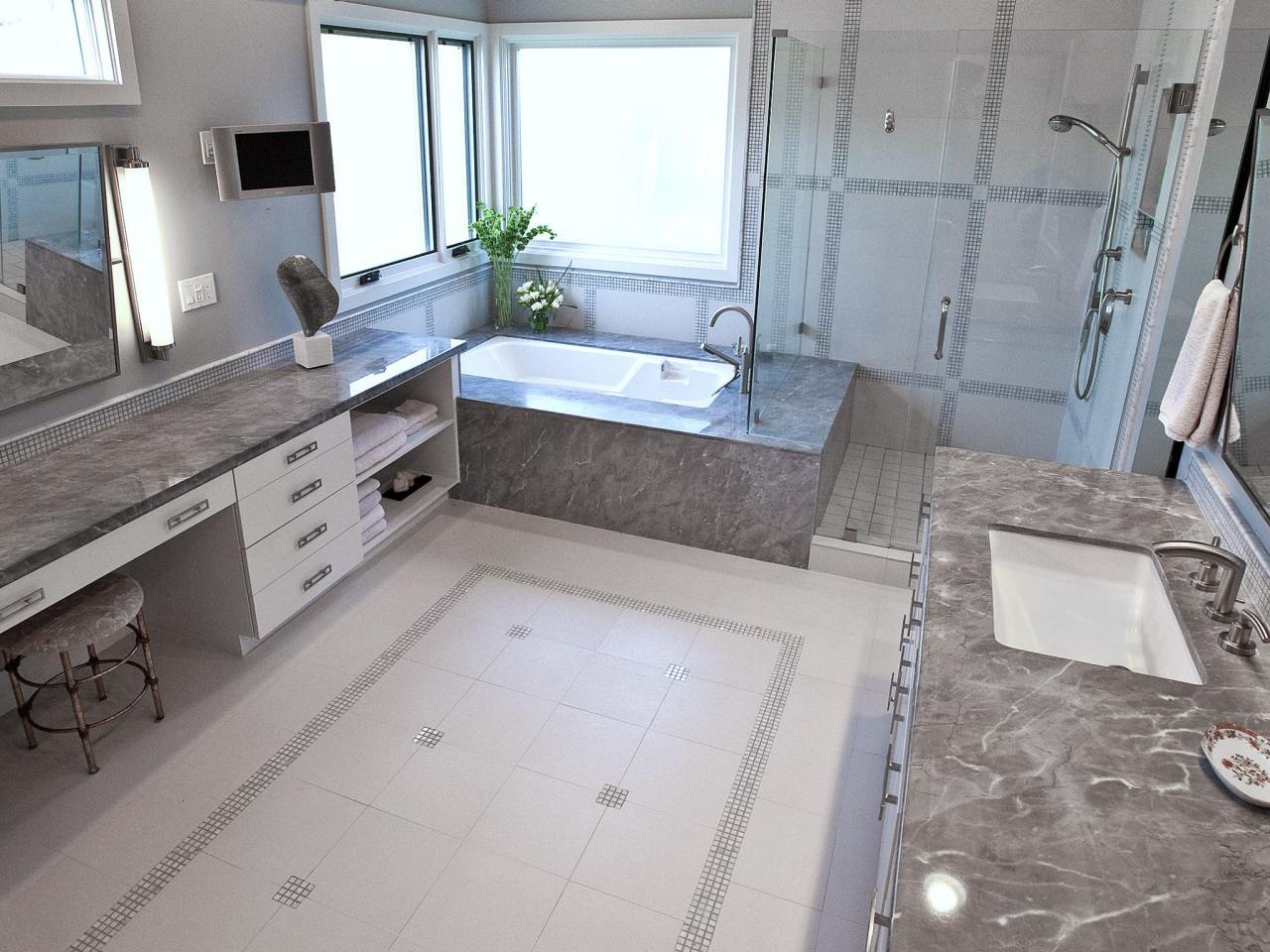 Artistic Glass Floor Tile Bathroom Of Clear Shower Room In Ing White