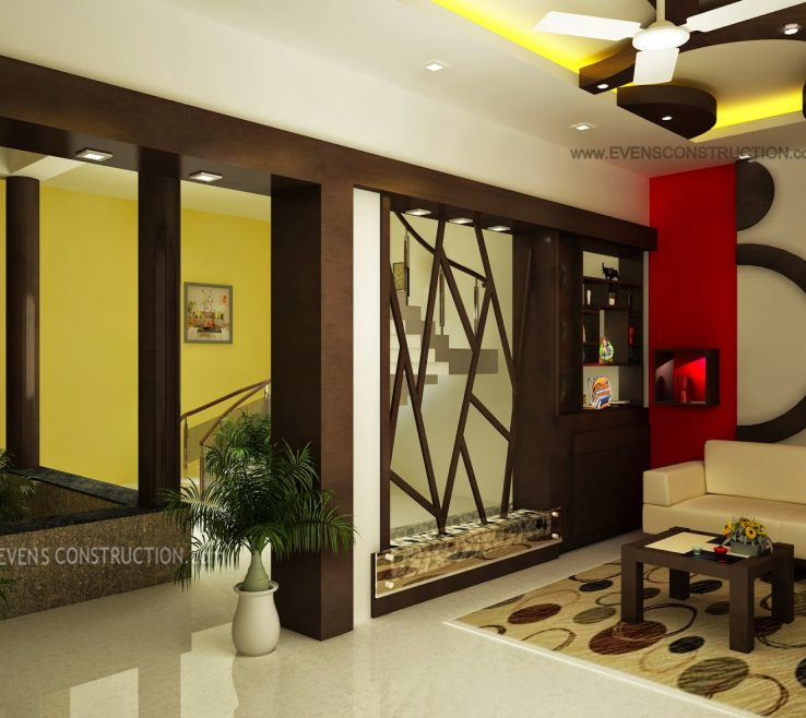Artistic hall partition designs of living room and dining in kerala snakepress acnn decor for Living room partition designs in indian