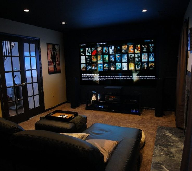 Artistic Ideas For Theater Room Of Basement Home #basement (home Ideas) Tags: Small