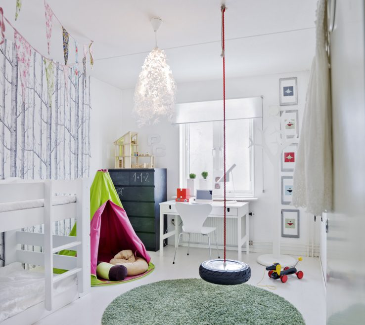 Artistic Swing In Room Of Fromscandinaviawithlovereview