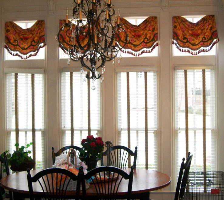 Astonishing Dining Room Window Treatment Ideas Of Image Of: Awesome Treatments