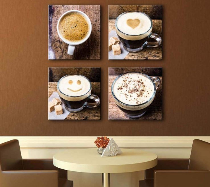 Astounding Coffee Themed Wall Decor Of Noah Art Contemporary Cup Canvas Prints, Drinking Artwork